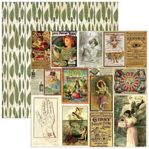 "Marion Smith Design Junque Gypsy Double Sided Cardstock 12x12"" - Belle Vie"
