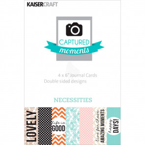 "KaiserCraft Captured Moments Double-Sided Cards 6x4"" - Necessities TASTER"
