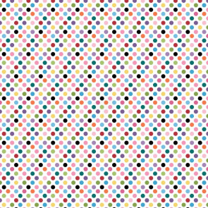 "Core'dinations Core Basics Patterned Cardstock 12x12"" - Light Pink Multi Dot"