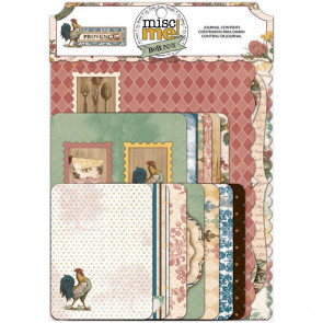 "Bo Bunny Misc Me 4x6"" & 3x4"" Journal Pack - Provence"