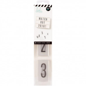 Heidi Swapp Lightbox Inserts 50/Pkg - Numbers/Black On White