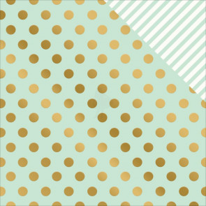 "My Minds Eye On Trend 2 Double-Sided Foiled Cardstock 12x12"" - Minted"
