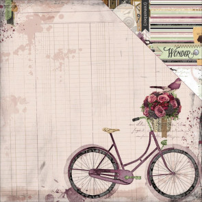 "BoBunny Beautiful Dreamer Double-Sided Cardstock 12x12"" - Bicycle"