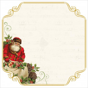 "KaiserCraft Silent Night Foiled Cardstock 12x12"" Santa List"