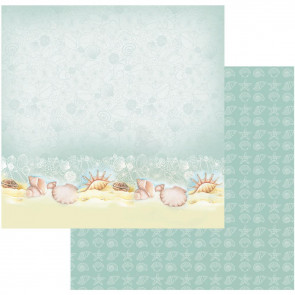 "Couture Creations Sea Breeze Dobbeltsidet Paper 12x12"" - Sea Shells On A Seashore"