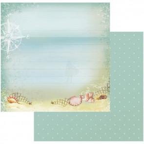 "Couture Creations Sea Breeze Dobbeltsidet Paper 12x12"" - Windy Beach"