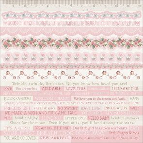 "KaiserCraft Peek-A-Boo Cardstock Stickers 12x12"" Girl"
