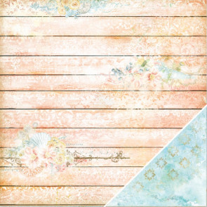 "Blue Fern Seaside Cottage Dobbeltsidet Cardstock 12x12"" - Splendor"