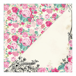 "Authentique Beloved Double-Sided Cardstock 12x12"" #5 Floral/Floral Border"