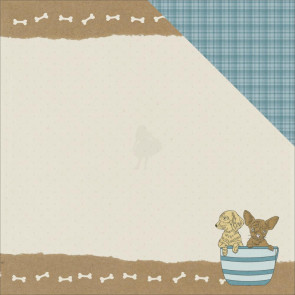"KaiserCraft Pawfect Double-Sided Cardstock 12x12"" - Puppy"