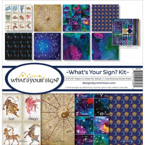 """Reminisce Collection Kit 12x12"""" - What's Your Sign?"""
