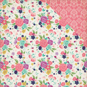 "Echo Park Paper Once Upon A Time Princess Dobbeltsidet Cardstock 12x12"" - Royal Garden"