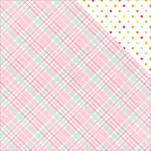 "Photo Play Paper Bloom Double-Sided Cardstock 12x12"" Puddle"