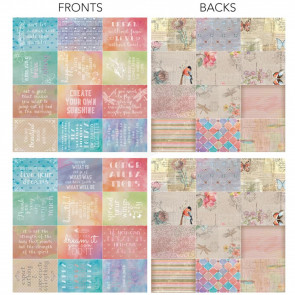 "Ultimate Crafts L'Aquarelle Cards 24/Pkg - 3x4"" Inspirational"