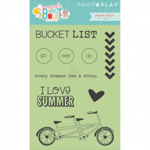 Photoplay Summer Bucket List Polymer Stamps Icons