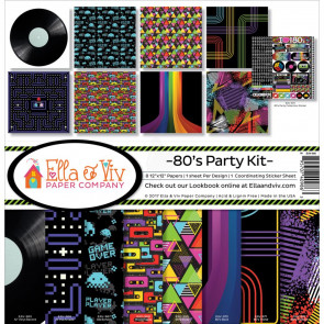 "Ella & Viv Collection Kit 12x12"" - 80's Party Kit"