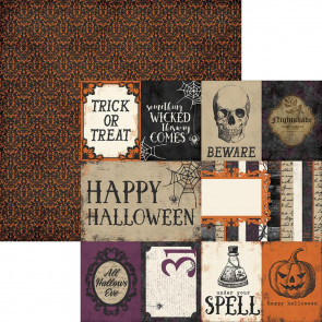 "Simple Sets Spellbound Dobbeltsidet Elements 12x12"" - Journaling Cards"