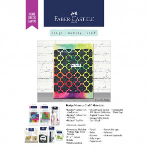 "Gratis Leaflet Faber Castell 5x7"" Home Decor Canvas - Be Bold"