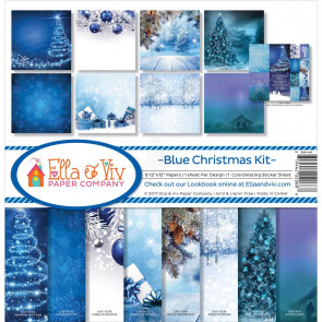 "Ella & Viv Collection Kit 12x12"" - Blue Christmas"