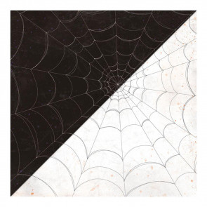 "Authentique Bewitched Double-Sided Cardstock 12x12"" #4 Black W/White & White W/Black Webs"