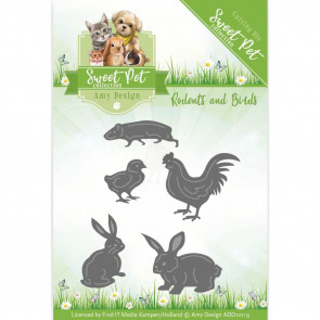Find It Trading Amy Design Sweet Pet Die - CatsBirds, Hamsters & Guinea Pigs