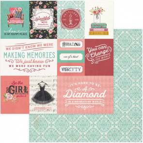 "Vintage Girl Double-Sided Cardstock 12x12"" Vintage Cards"