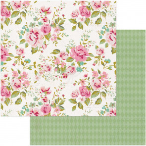 """Vintage Girl Double-Sided Cardstock 12x12"""" Romance"""