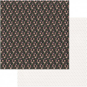 "Vintage Girl Double-Sided Cardstock 12x12"" Tiny Prints Black Floral"
