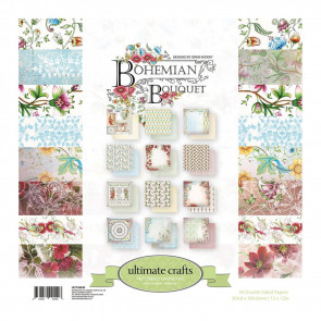 "Ultimate Crafts Bohemian Bouquet 12x12"" og 6x6"" Papir Pakke."
