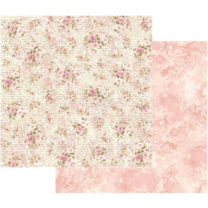 "Stamperia Double-Sided Cardstock 12x12"" Shabby Roses & Writing"