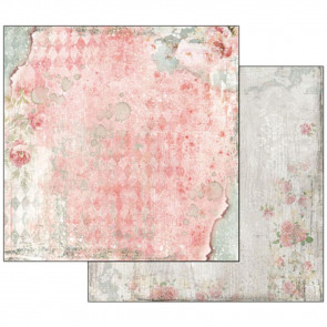 "Stamperia Double-Sided Cardstock 12x12"" Dream Texture With Rose"