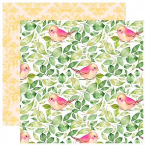 "Webster's Pages Changing Colors Double-Sided Cardstock 12x12"" Falling Leaves"