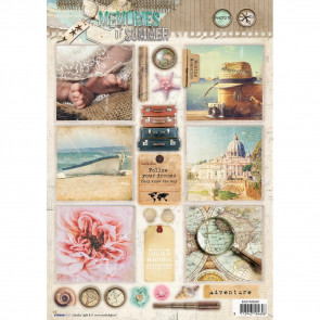 StudioLight Easy 3D Punched Sheet A4 #620 Memories Of Summer