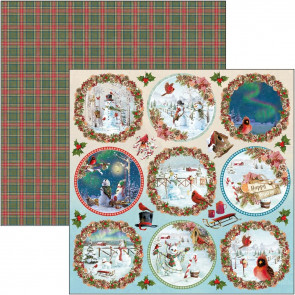"Ciao Bella Double-Sided Cardstock 12x12"" Northern Lights - Medallions"