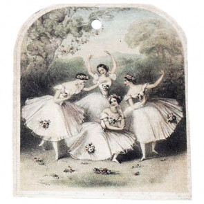 Beyond Visions Paper Label Tags - Vintage Balletdansere