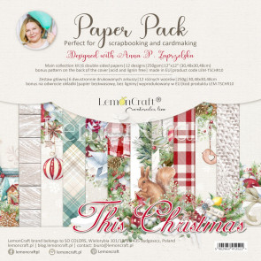 """LemonCraft 12x12"""" Scrapbooking Paper Pack This Christmas"""