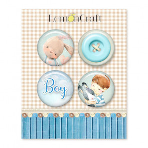 LemonCraft Boy's Little World Buttons / Badges