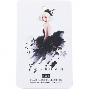Beyond Visions Paper Label Tags - Girl in Black Dress