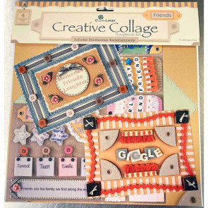 "Craft Lover Creative Collage 12x12"" Scrapbooking Kit - Friends"