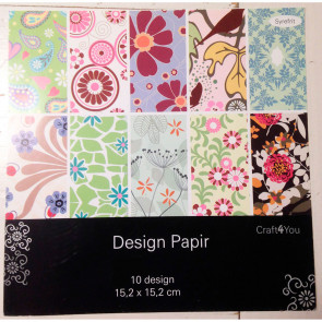 "Craft4You Design Papir 6x6"" 002 TASTER"