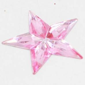 Acrylic Big Size Star 31mm - Rose