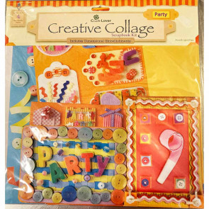 "Craft Lover Creative Collage 12x12"" Scrapbooking Kit - Party"
