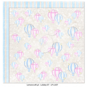 "LemonCraft Double Sided 12x12"" Scrapbooking Paper - Lullaby 07"