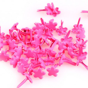 Beyond Visions 7mm Blomster Brads, Pink