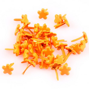 Beyond Visions 7mm Blomster Brads, Orange
