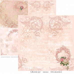 "LaBlanche 12x12"" Dobbeltsidet Papir, Antique Rose #5"