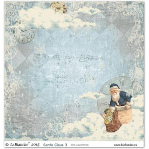 "LaBlanche Papers ""Santa Claus"" 3 Dobbeltsidet 12x12"""