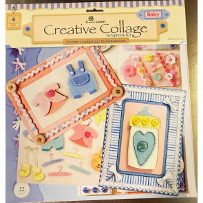 "Craft Lover Creative Collage 12x12"" Scrapbooking Kit - Baby"