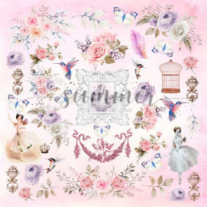 Summer-Studio Tender Sentiment 30,5x30,5 cm Enkeltsidet Cardstock - Sentiment