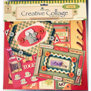 "Craft Lover Creative Collage 12x12"" Scrapbooking Kit - Family"
